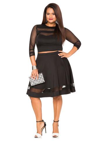 Scuba Mesh Circle Skirt