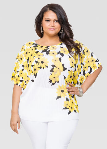 Floral Cocoon Top