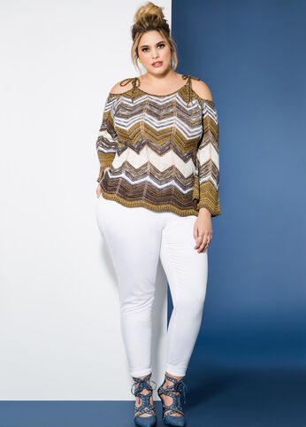 Chevron Charmer Plus Size Outfit