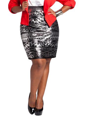 Sequin Embellished Skirt
