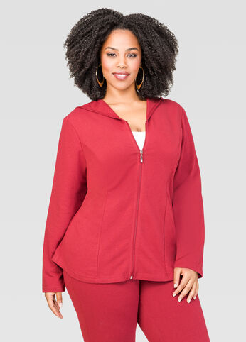Mélange Back Flounce Active Jacket