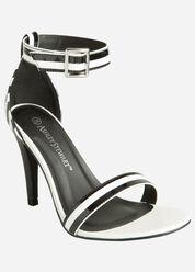 Patent Stripe Sandal - Wide Width