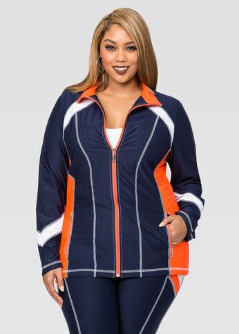Zip Front Colorblock Jacket