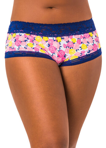 Micro Hipster Lace Trim Panty