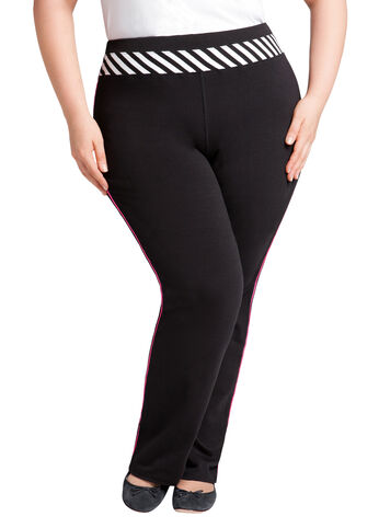 Striped Pull on Active Pant
