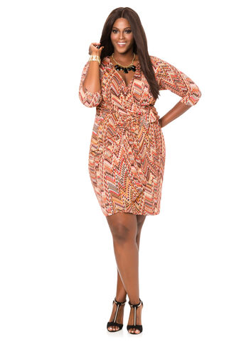 Classic Printed Wrap Dress