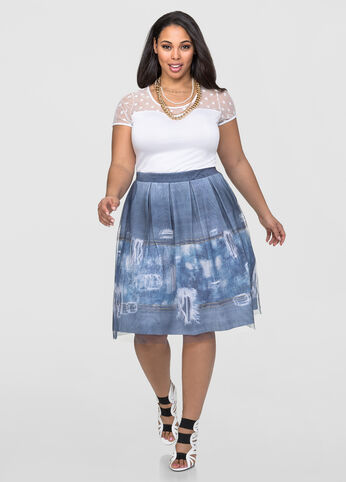 Sublimation Print Tulle Skirt