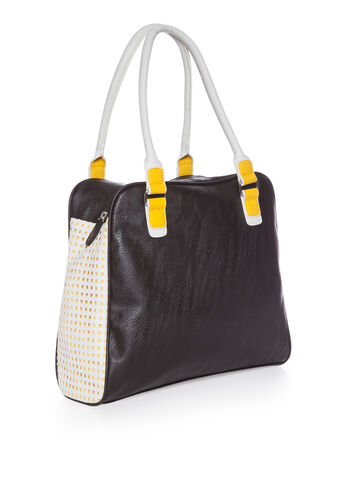 Perforated Colorblock Tote