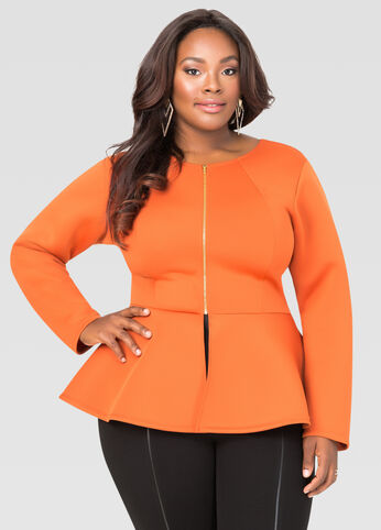 Neoprene Peplum Jacket
