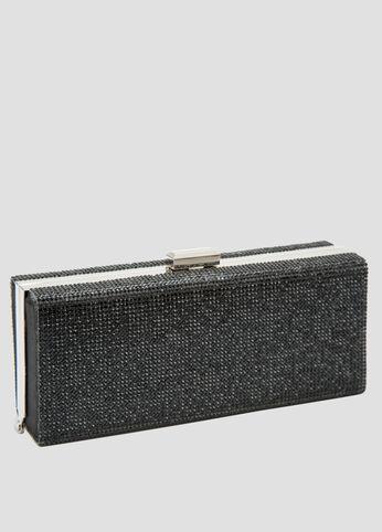 Crystal Stone Box Clutch