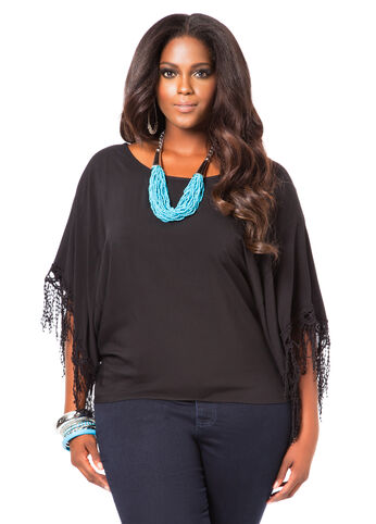 Crochet Trim Dolman Top