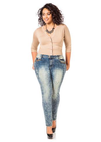 Embellished Pocket Jeans