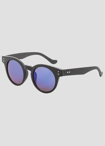Matte Round Wayfarer Sunglasses