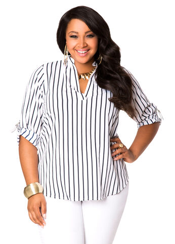 Striped Pullover Blouse