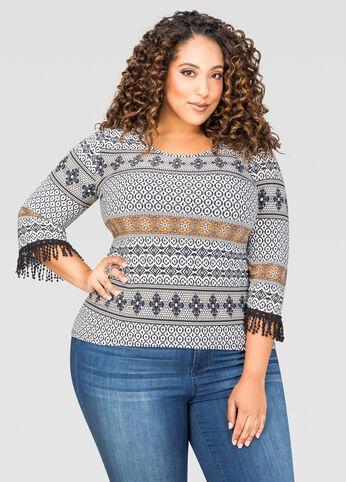 Crochet Trim Boho Top