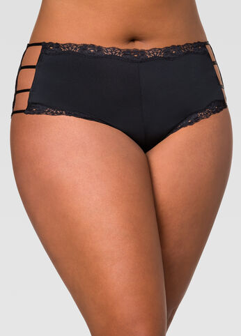 Lace Trim Micro Hipster Panty