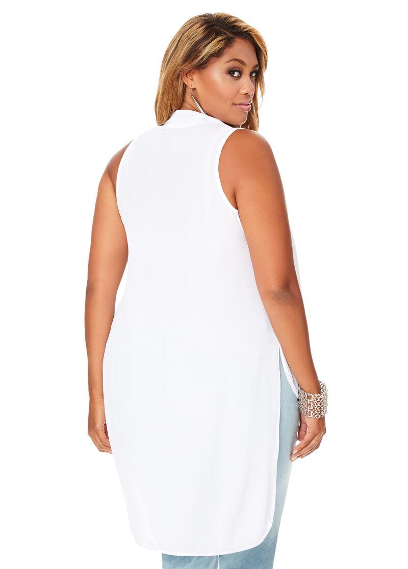 Shawl Collar Blouse White 32