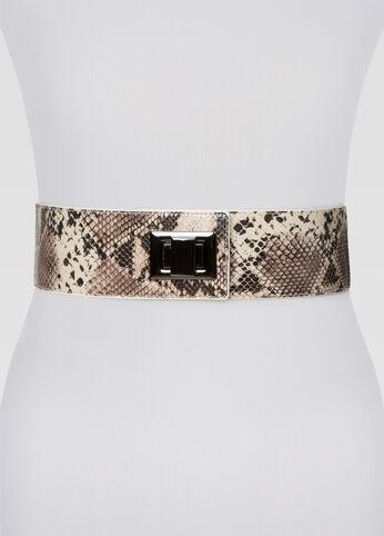 Snake Print Stretch Belt