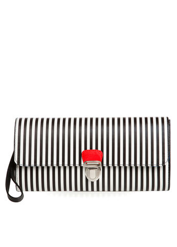 Mini Stripe Clutch Bag
