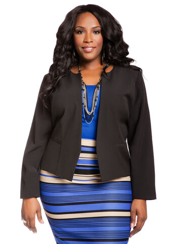 Collarless Signature Blazer