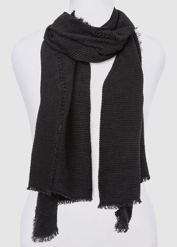 Accordion Pleat Oblong Scarf at Ashley Stewart