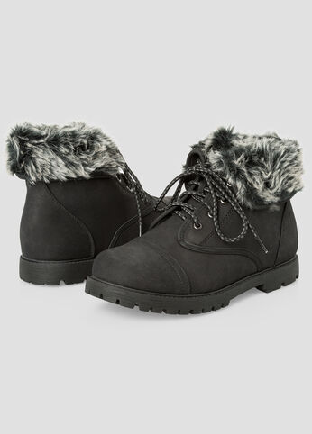 Fur Lined Boot - Wide Width