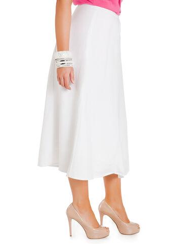 Linen Midi Bias Skirt
