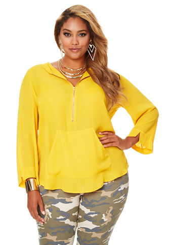 Pullover Hoodie Blouse