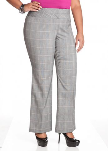 Glen Plaid Tweed Pant