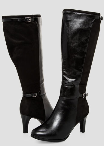 Contrast Back Tall Boot - Wide Calf, Wide Width