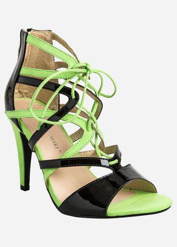 Open-Toe Lace-Up Heel - Wide Width