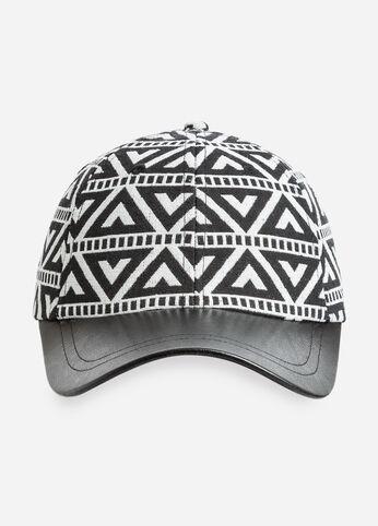 Geo Print Woven Baseball Cap