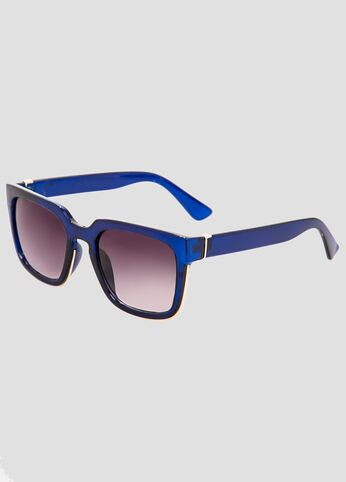 Metal Trim Square Sunglasses