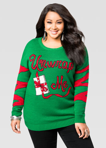 Light Up Unwrap Me Holiday Sweater