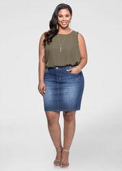 Five Pocket Jean Skirt