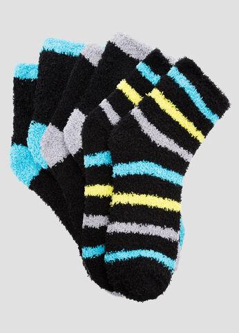 3-Pack Tonal Bright Stripe Cozy Socks