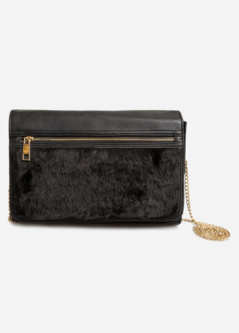 Faux Fur Box Clutch Bag