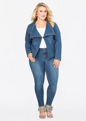 Medium Wash Rhinestone Stud Skinny Jean