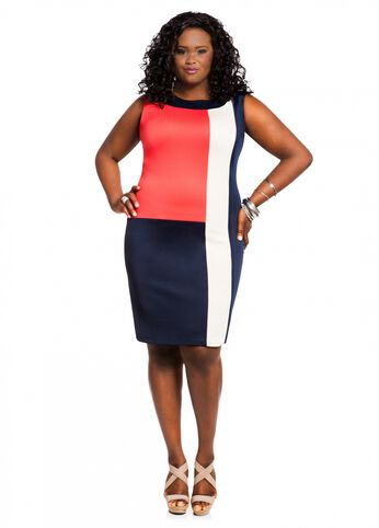 Web Exclusive: Color Block Panel Dress