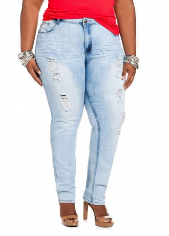 Destructed Skinny Denim