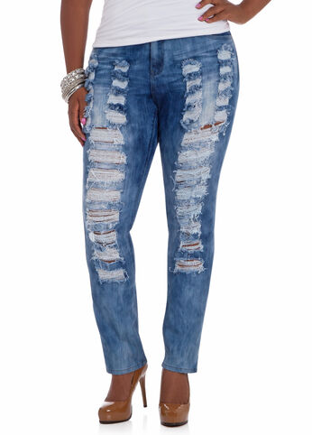 Acid Destructed Jeans
