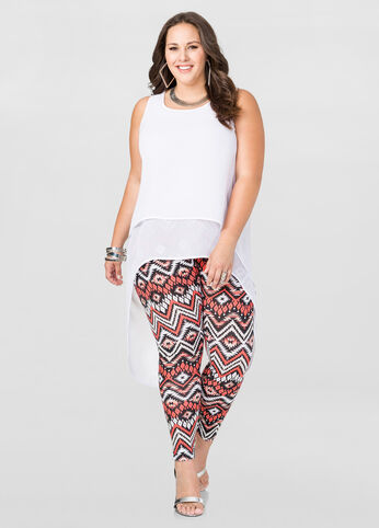 Printed Chevron Stripe Legging