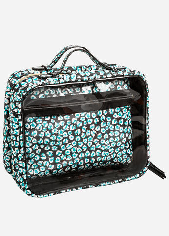 Large Double Pocket Cosmetic Case