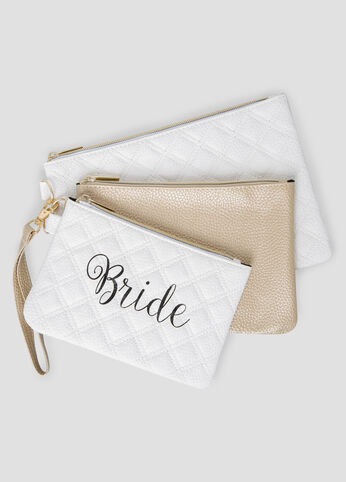 Bride To Be Beauty Pouch Trio