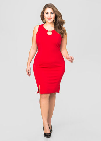 Bar Keyhole Sheath Dress