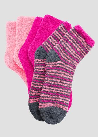 3-Pack Multi Stripe Cozy Socks
