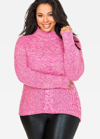Metallic Mock Neck Sweater