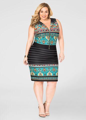 Plus Size Paisley Skirt Set