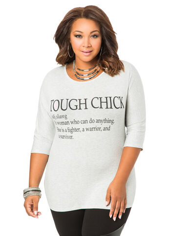 #ASGives Breast Cancer Awareness Tough Chick Tee