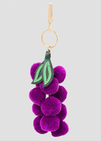 Grape Pom Key Chain Charm